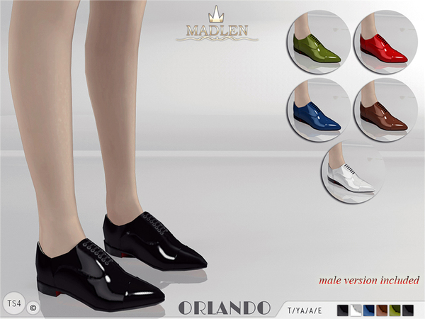 Sims 4 Madlen Orlando Shoes by MJ95 at TSR