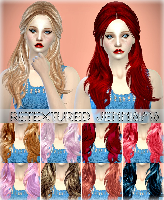 Sims 4 Butterflysims 078 and 091 hair retextures at Jenni Sims