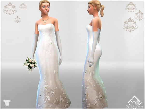 Wedding Time dress by Devirose at TSR image 3217 Sims 4 Updates