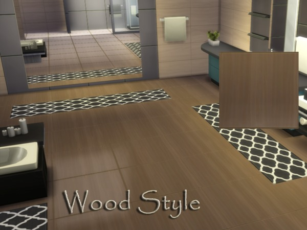 Sims 4 Wood Style floor by millasrl at TSR