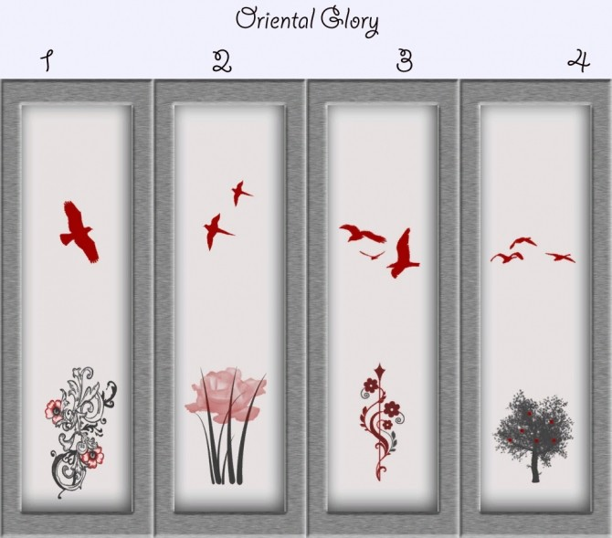 Sims 4 Oriental Glory Paneling by Simmiller at Mod The Sims
