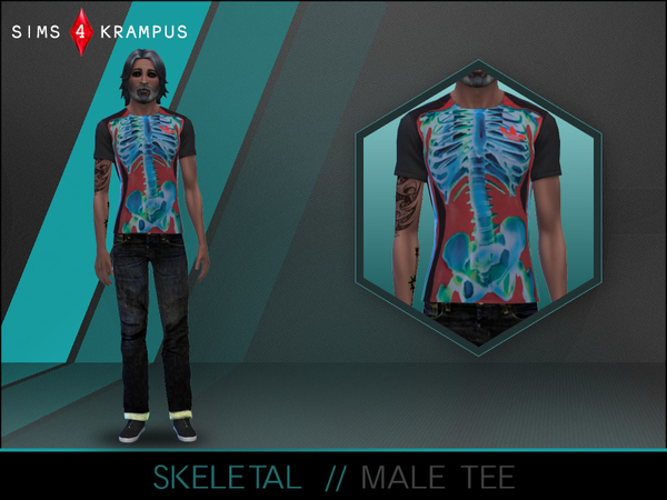Sims 4 Skeletal Male Tee by SIms4Krampus at TSR