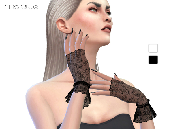Sims 4 Lace Gloves by Ms Blue at TSR