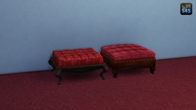 Sims 4 Captain Rodrigo and Intimate single ottomans by necrodog at Mod The Sims