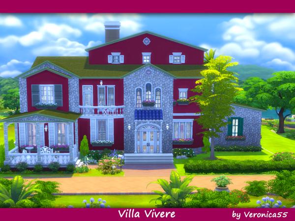 Sims 4 Villa Vivere by veronica55 at TSR