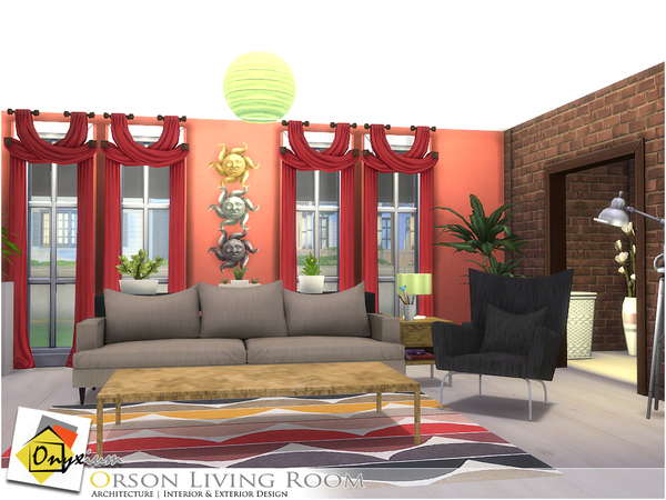 Orson Living Room by Onyxium at TSR image 3417 Sims 4 Updates