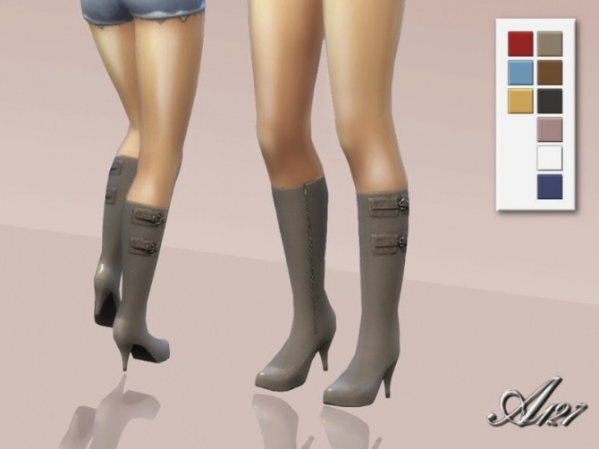 Sims 4 Leather boots at Altea127 SimsVogue