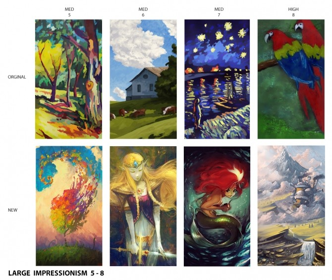 Sims 4 Impressionist Paintings Replaced by DaisyTighfield at Mod The Sims