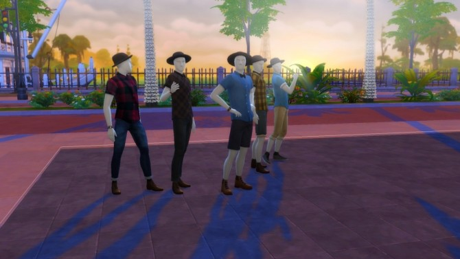 Sims 4 Rolled Up Button Ups at Marvin Sims