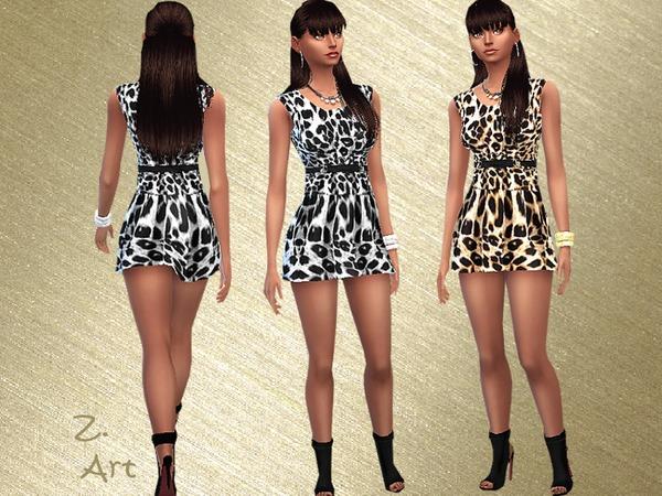 Sims 4 Jungle Fever dress by Zuckerschnute20 at TSR