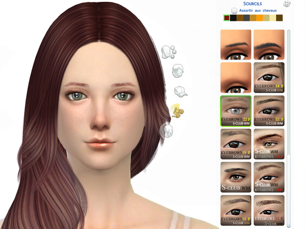 Eyebrows 22 F by S Club WM at TSR image 380 Sims 4 Updates