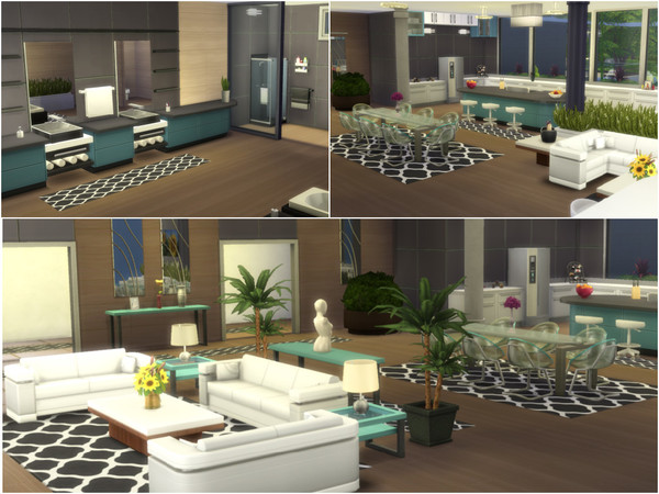 Sims 4 Eco Design 2 house by millasrl at TSR