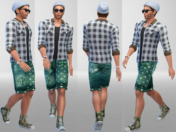 Distressed Camo High Tops by Pinkzombiecupcakes at TSR image 3915 Sims 4 Updates