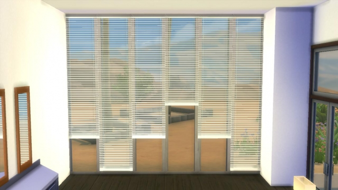 Horizontal Curtain Blinds By Adonispluto At Mod The Sims