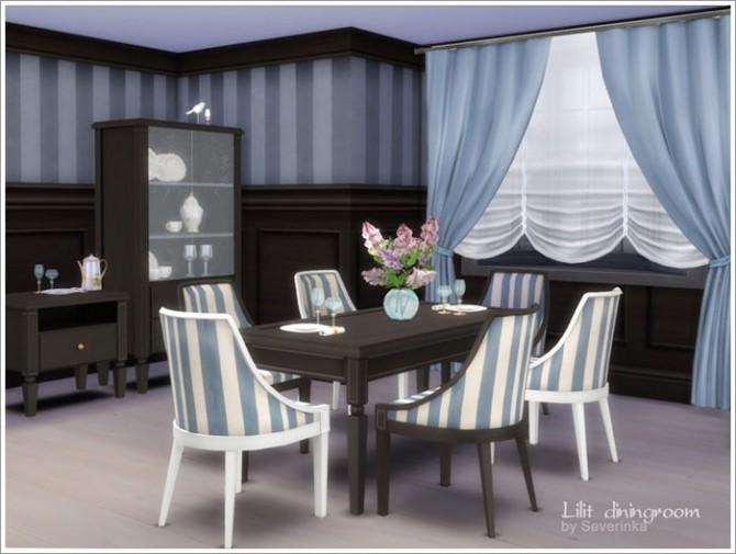 Lilit diningroom at sims by severinka sims 4 updates for Dining room ideas sims 4