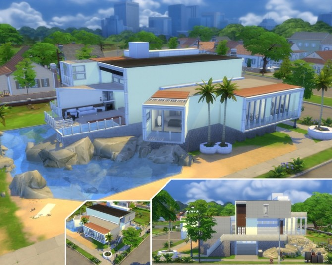 Sims 4 Beach house by artrui at Mod The Sims