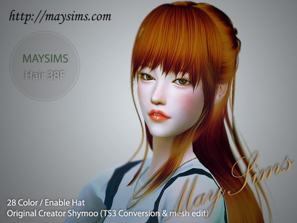 Sims 4 Hair 38F (Shymoo) at May Sims