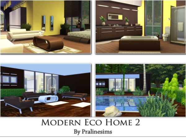 Modern Eco Home 2 By Pralinesims At Tsr Sims 4 Updates