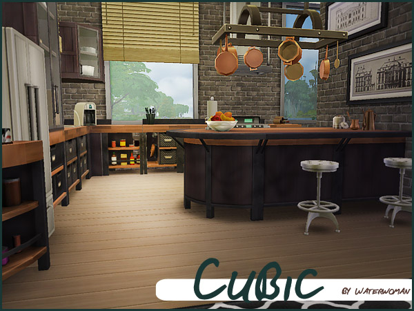 Sims 4 Cubic house by Waterwomen at Akisima