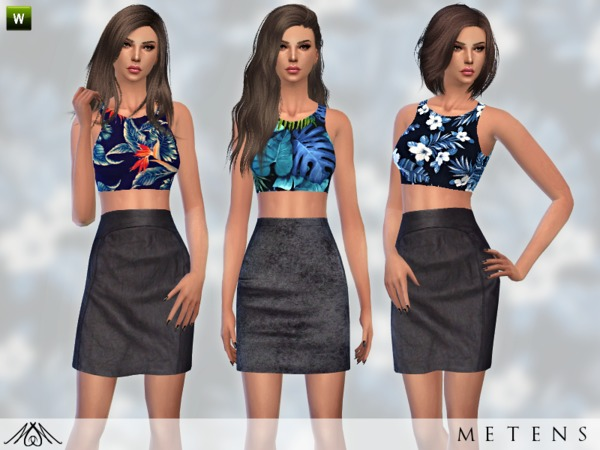 Set No2 Olahoa top and skirt by Metens at TSR image 479 Sims 4 Updates