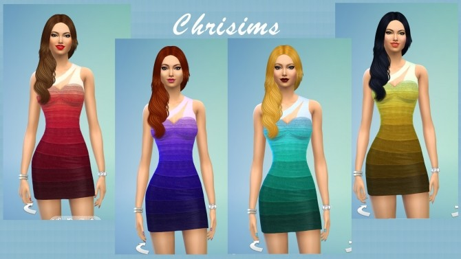 Sims 4 Banded Dress by Chrisims at Mod The Sims