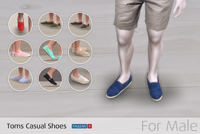 Toms Casual Shoes At Paulean R 187 Sims 4 Updates