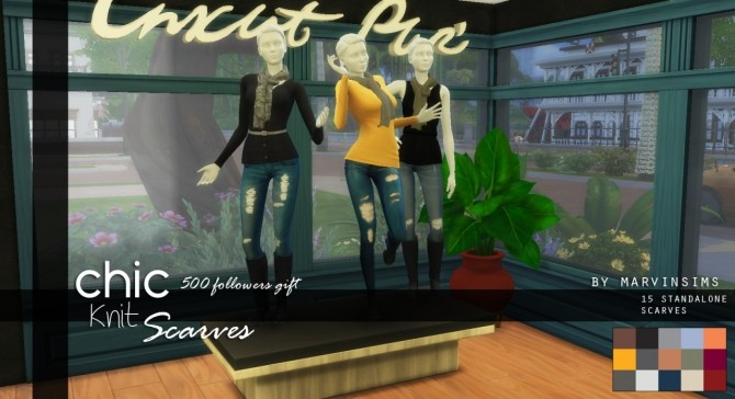 Chic Knitted Scarves at Marvin Sims image 5117 670x364 Sims 4 Updates