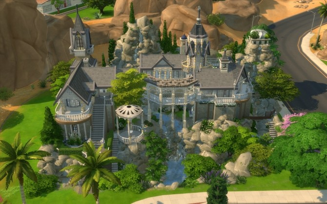 Rivendell, elven outpost (no CC) by artrui at Mod The Sims image 5132 670x419 Sims 4 Updates