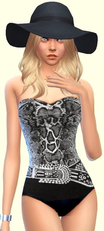 Sims 4 Black Lady swimsuits at Annett's Sims 4 Welt