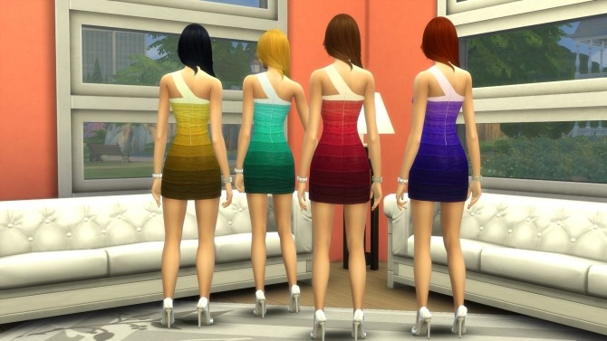 Banded Dress by Chrisims at Mod The Sims image 515 670x377 Sims 4 Updates