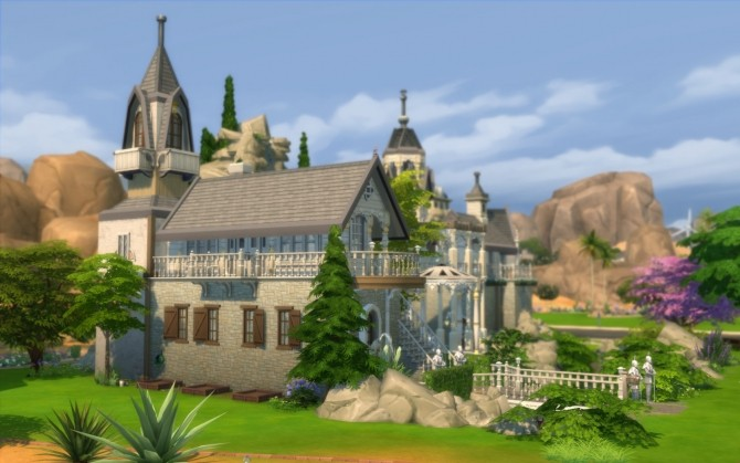 Rivendell, elven outpost (no CC) by artrui at Mod The Sims image 5227 670x419 Sims 4 Updates