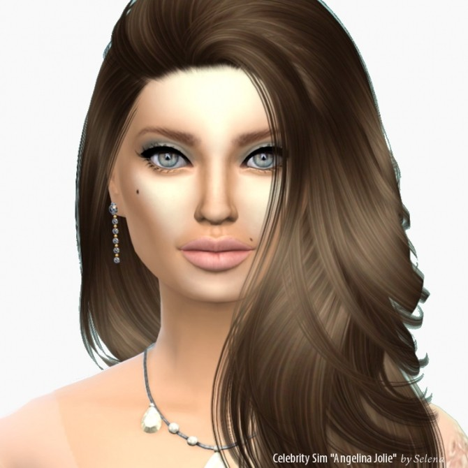 Angelina Jolie By Selena At Sims 4 Celebrities 187 Sims 4