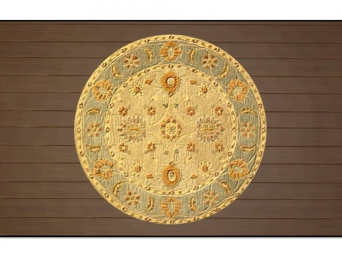 Anatolia Round Antique Rugs by Christina51 at Mod The Sims image 535 670x503 Sims 4 Updates