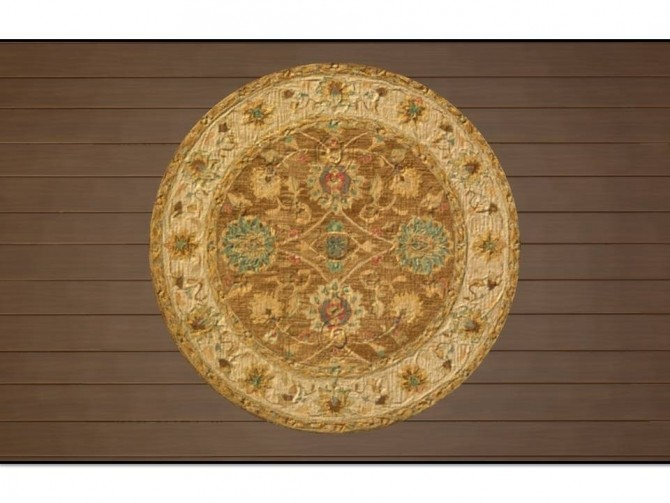 Anatolia Round Antique Rugs by Christina51 at Mod The Sims image 546 670x503 Sims 4 Updates