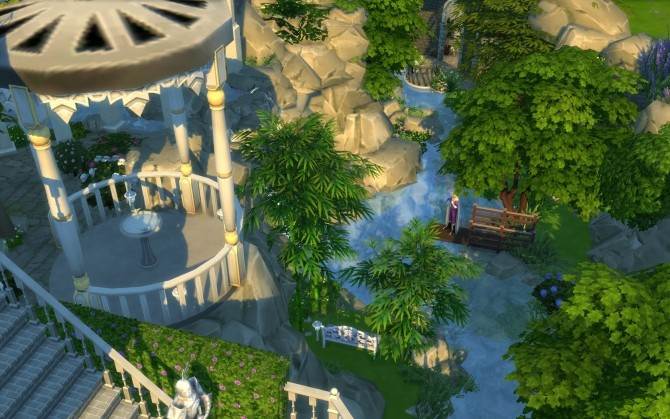 Rivendell, elven outpost (no CC) by artrui at Mod The Sims image 5524 670x419 Sims 4 Updates