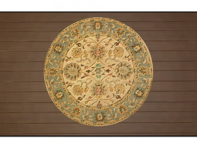 Anatolia Round Antique Rugs by Christina51 at Mod The Sims image 556 670x503 Sims 4 Updates
