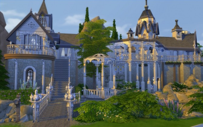 Rivendell, elven outpost (no CC) by artrui at Mod The Sims image 5623 670x419 Sims 4 Updates
