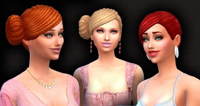 Sims 4 BraidesBunSide Conversion at My Stuff