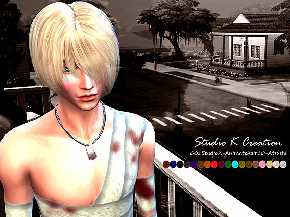 Sims 4 Animate hair 10 Atsushi at Studio K Creation