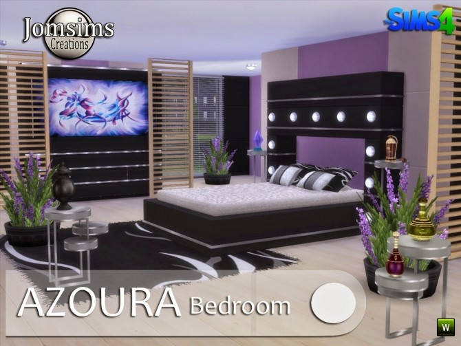 AZOURA bedroom at Jomsims Creations image 577 670x503 Sims 4 Updates