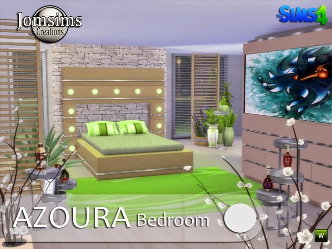 AZOURA bedroom at Jomsims Creations image 588 670x503 Sims 4 Updates