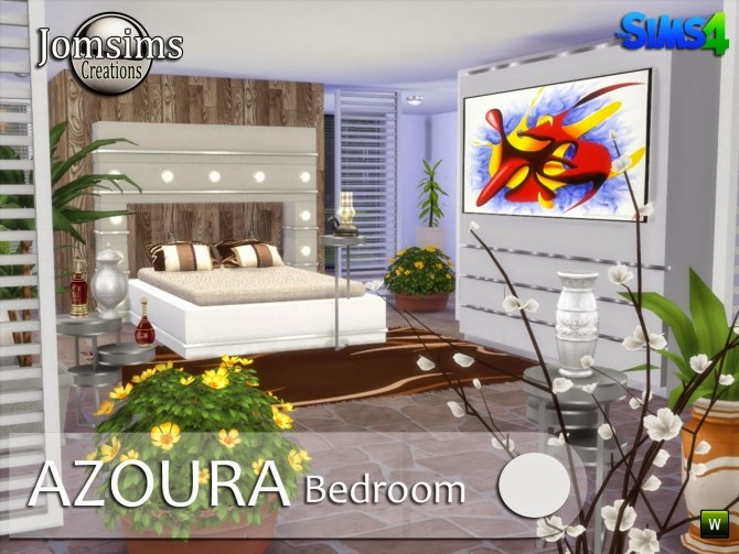 AZOURA bedroom at Jomsims Creations image 598 670x503 Sims 4 Updates