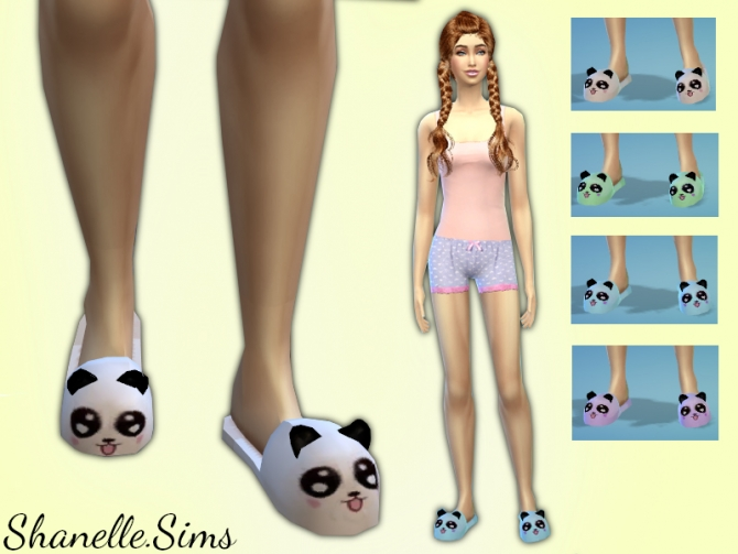Panda Slippers At Shanelle Sims 187 Sims 4 Updates