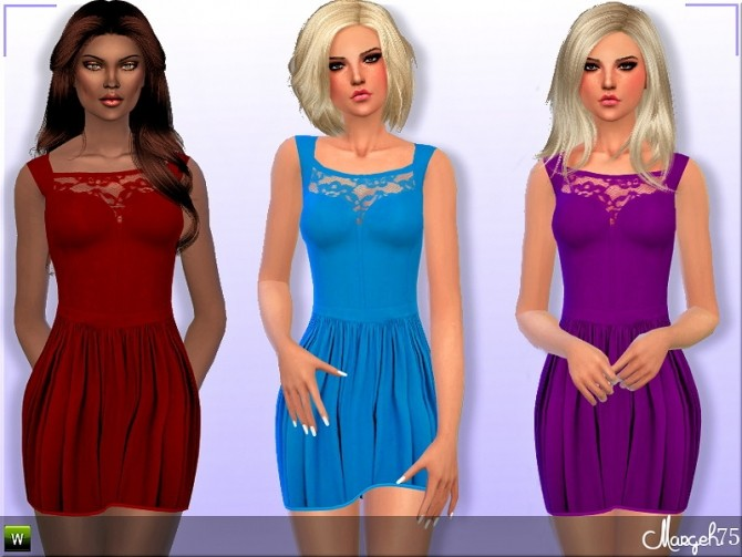 Sims 4 La Femme Dress by Margie at Sims Addictions