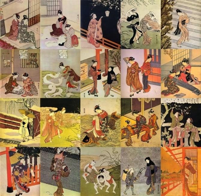 Japanese paintings at Mara45123 image 602 670x655 Sims 4 Updates