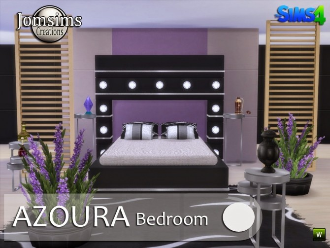 AZOURA bedroom at Jomsims Creations image 607 670x503 Sims 4 Updates