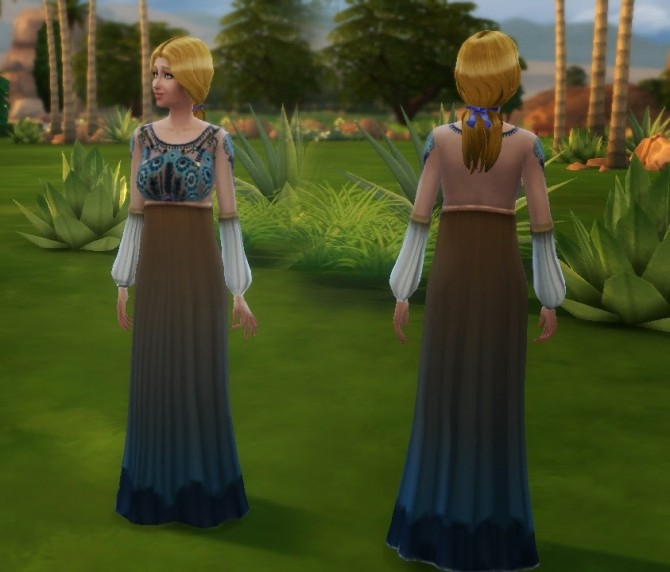 Sims 4 Embroidered Dress at My Stuff