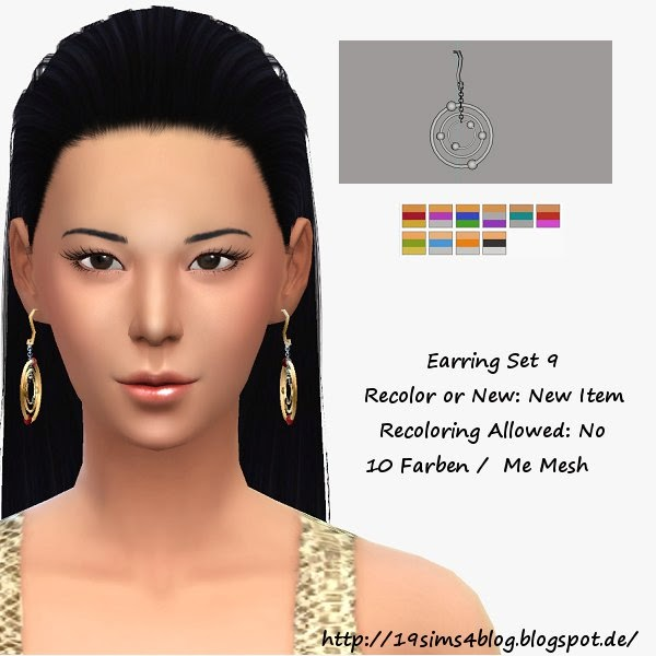 Earrings Sims 4 | irida sims 4 earrings 1 i sims 4 updates