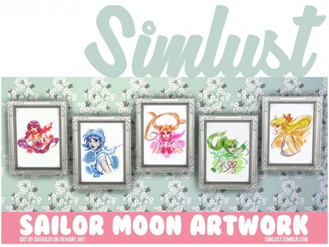 Sailor Moon artwork at Simlust image 6112 670x503 Sims 4 Updates