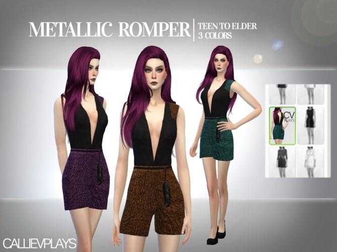 Sims 4 Metallic romper at CallieV Plays